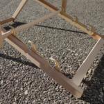 Sonnenliege Liegestuhl aus Holz mit Druck