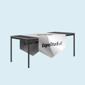 ExpoDruck Tischläufer druck bedruckt gespitzte kante