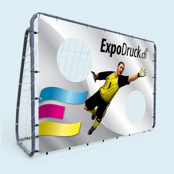 ExpoDruck Torwand Fussball Spiel bedruckt Druck