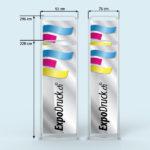 ExpoDruck Tube Display druck bedruckt detail grössen