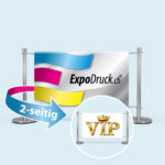 ExpoDruck VIP Absperrsystem doppelseitig bedruckt
