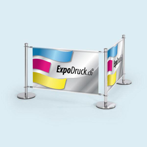 ExpoDruck VIP Absperrsystem mehrfeld bedruckt