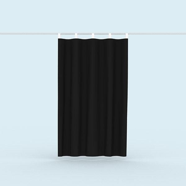 ExpoDruck Vorhänge Hochformat Schwarz