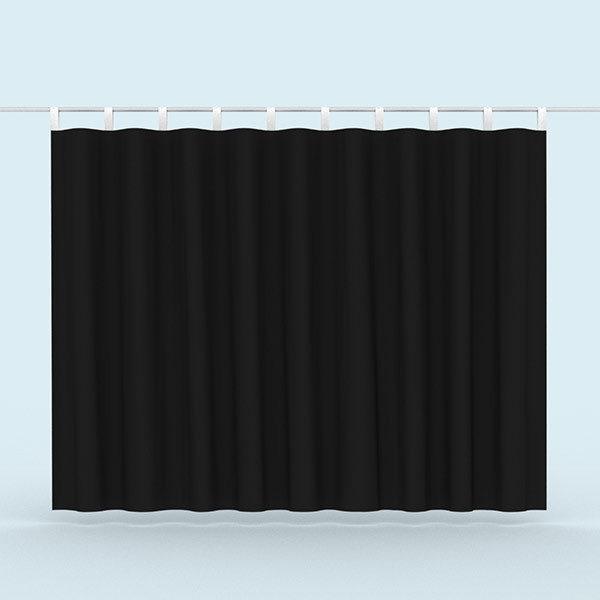ExpoDruck Vorhänge Querformat schwarz