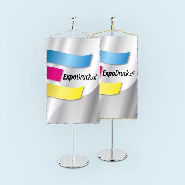 ExpoDruckt Wimpel TableTopper rechteckig mit Kordel druck bedruckt