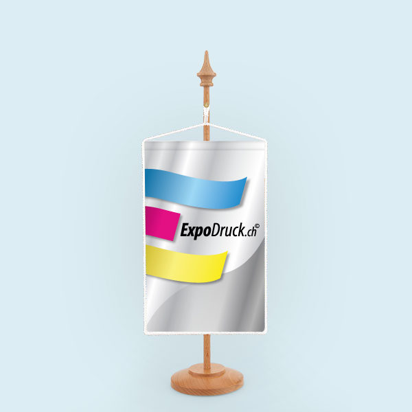 ExpoDruck Wimpel TableTopper rechteckig mit Kordel druck bedruckt