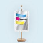 ExpoDruck Wimpel TableTopper rechteckig mit Schlaufenfransen druck bedruckt