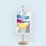 ExpoDruck Wimpel TableTopper rechteckig mit Schnittfransen druck bedruckt