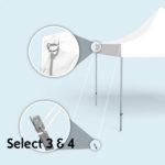 Expodruck Faltzelt Select 8-kant abspannset