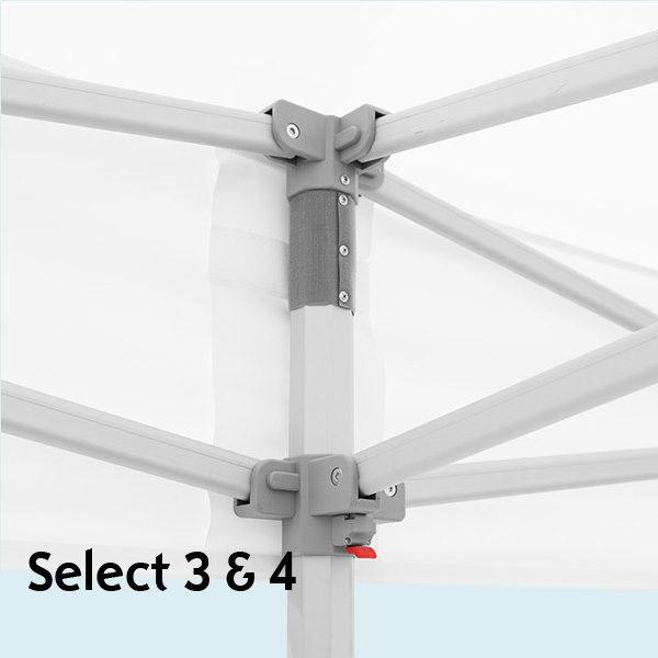Expodruck Faltzelt Select 8-kant ecke