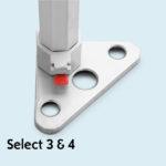 Expodruck Faltzelt Select 8-kant fuss