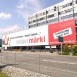ExpoDruck Netz Plache Blache Mesh Druck Grossformat Werbung Baugeruest Druckerei Lochware gelocht