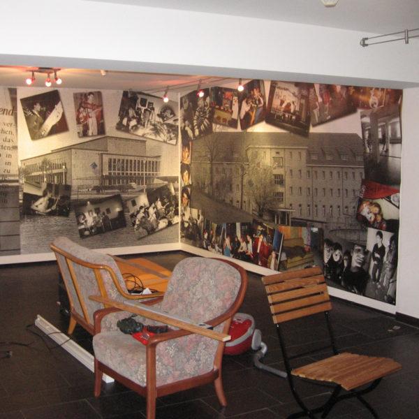 ExpoDruck Plache Blache Druck Museum Ausstellung Dekoration Druckerei Wand