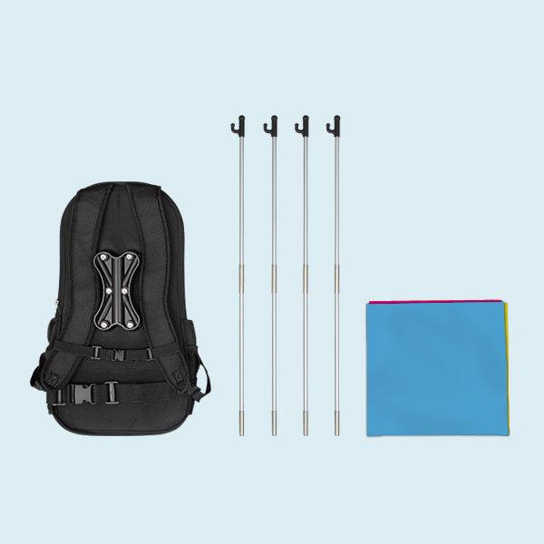 ExpoDruck Promotions System Rucksack FlipFlag ECO Fahne Display Fahnendruck Backpack