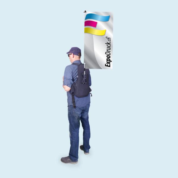 ExpoDruck Promo Rucksack Werbung Fahne Druck bedruckt Promotions Rucksäcke