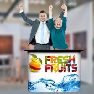 ExpoDruck Promotion Counter Magnet Desk Messetisch Tischmesse Ausstellung bedruckt