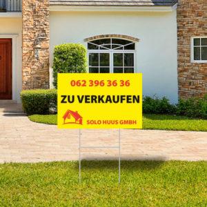ExpoDruck Rasenschild zu verkaufen Schild Markler druck bedruckt Immobilien Tafeln