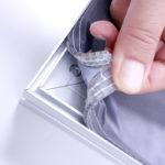 ExpoDruck Spannrahmen Leuchtkasten Textil montage Druck auswechseln Bespannung