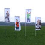 FlipFlag ECO kleine Fahne mit Fahnenmast Druck Fahnendruck bestellen