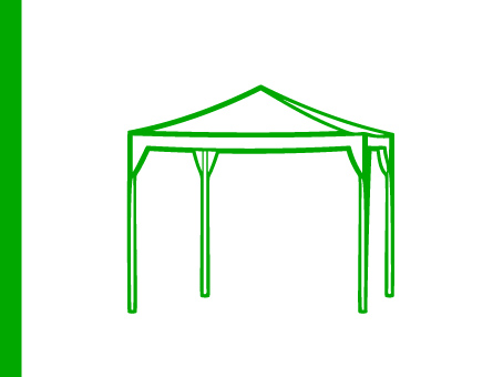 ExpoDruck Zelt Pavillon Druck bedruckte Zelte Pavillons Marktzelt Stand Druck bedruckt Dach regensicher Zeltstangen bestellen Shop
