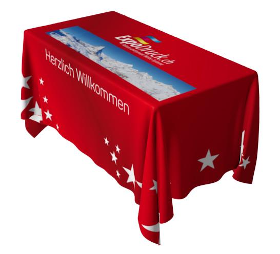 Bedruckter Überwurf Tischdecke Druck Tischtuch Tischmesse Catering