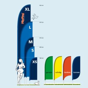 ExpoDruck FlipFlag Select grössen auswehend