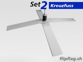 ExpoDruck FlipFlag zubehoer kreuzfuss 17kg 1