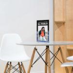 ExpoDruck Q Frame Table Topper Tischsteller Steller Druck Tisch Füsschen Werbung bedruckt Aufsteller Mini Display
