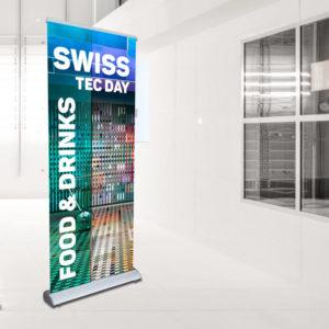 ExpoDruck Select Bespannung Display Druck bestellen druckt-aufrollen Ausstellung Messe Werbung Druckerei